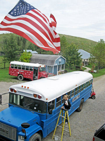 The ranch buses are fueled up, cow treats are ready to go and people from