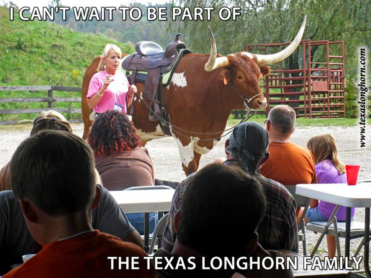I cant wait to be part of the texas longhorn family