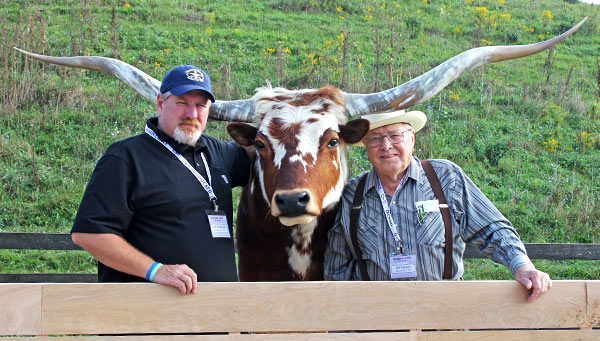 Kirk Dickinson organized the sound, drone filming, exotic fowl containment, and all computer promo. Master cattleman Bill Farson ran the weight guessing.