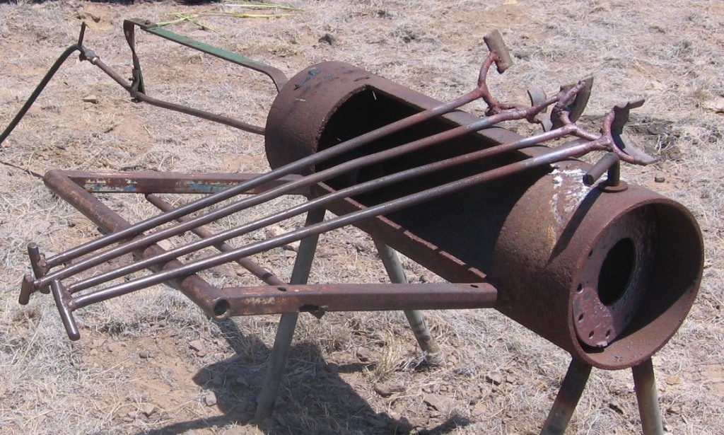 home made propane iron heater