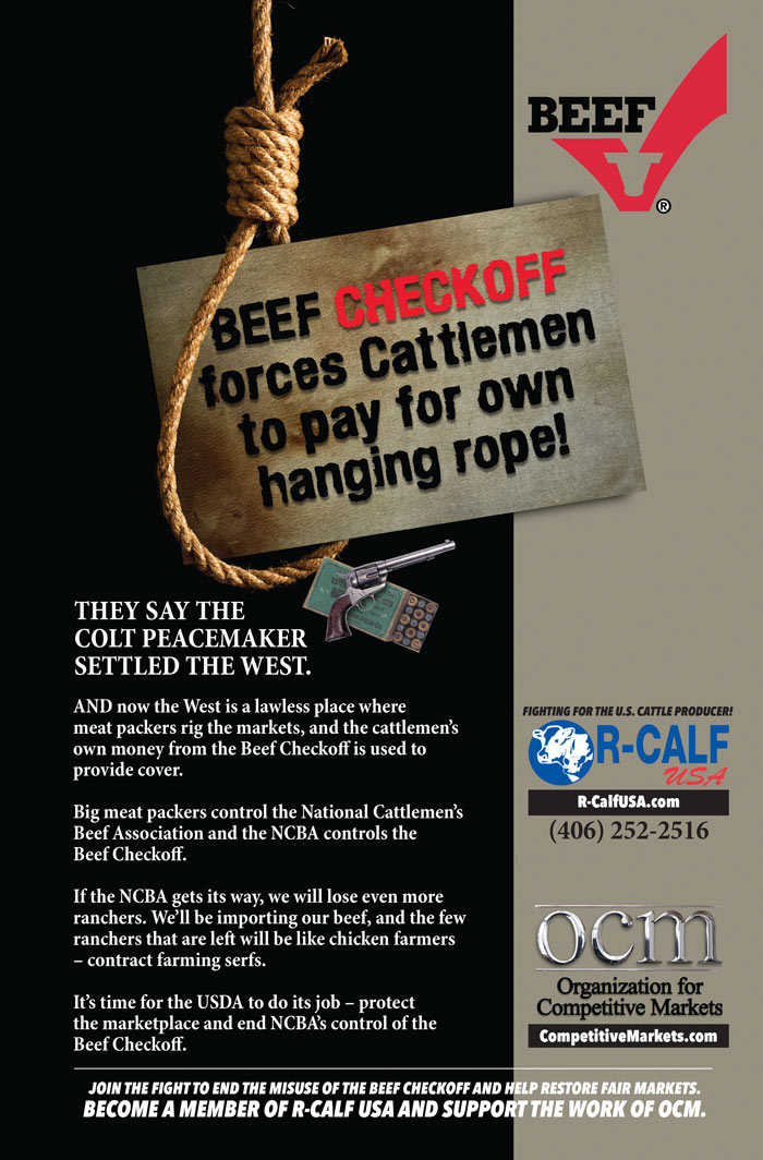 Beef checkoff forces cattlemen to pay for own hanging rope