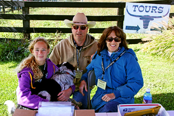 Kara, Brad and Denise handled the entry gate admittance.