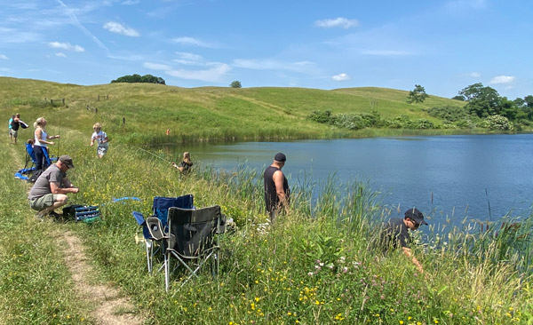 Those coming early or staying late were welcomed to fish at the huge ranch lakes, and take home all they caught.