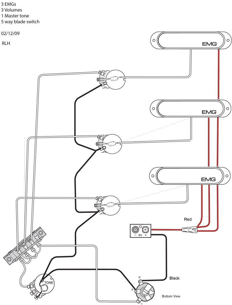 3 Humbucker Wiring Schematic Diagram Schematics For Emg Auto Electrical Pickup